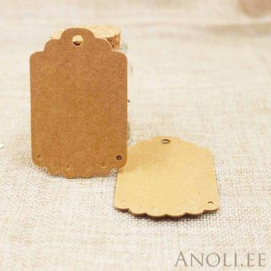 Sildid, etiketid 100tk/7x4,5 cm, pruun