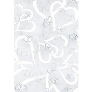 Transparent paber A4/115g Emotion, heart white, 1 leht