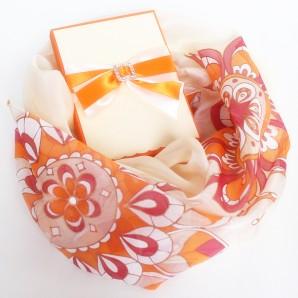 Siidisall Ornament (punane-oranz)