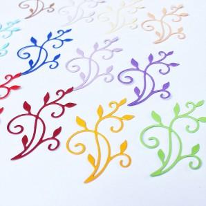 Dekoratiivkomplekt/kaunistused. Motiivid paberist Flourist A 14tk.