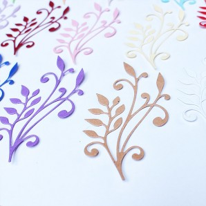 Dekoratiivkomplekt/kaunistused. Motiivid paberist Flourist B  14tk.