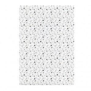 Transparent paber A4/115g Small hearts, silver, white, 1 leht