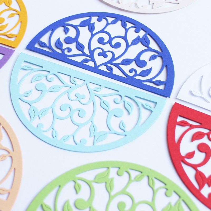 Dekoratiivkomplekt/kaunistused. Motiivid paberist Ornament B 14tk.